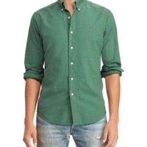 Ralph Lauren Polo Green Irish Emerald Oxford Shirt